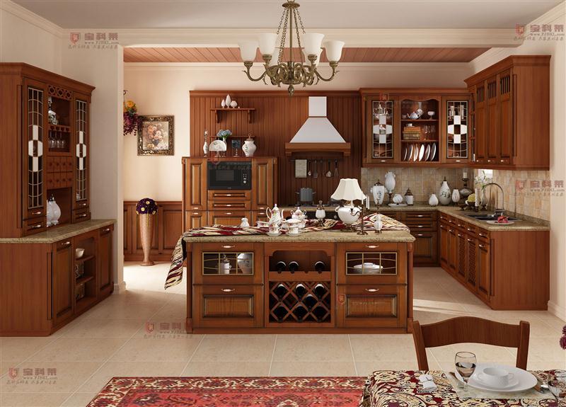 用美国赤桦木打造实木橱柜